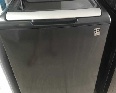 Ge black stainless washer 5 cu ft