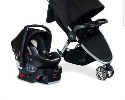 Britax car seat and stroller travel system