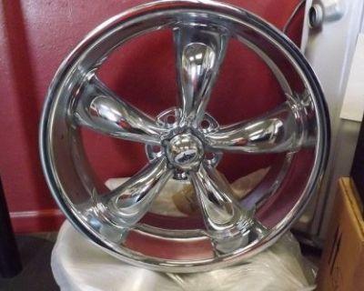 Coys C-5 Five Spoke Wheels 20 X 7, 5 X 4 3/4, Chrome. Set Of 2