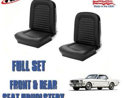 Front And Rear Seat Covers, Upholstery Black 1966 Mustang Coupe Free Shipping!!