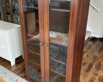 Glass Front Media Cabinet