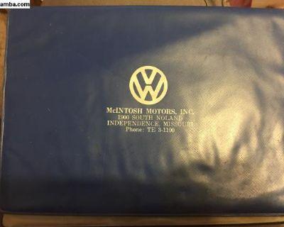 McIntosh motors- Missouri manual folder