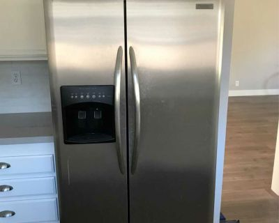 Refrigerator stainless side by side LOCATED IN GRANADA HILLS