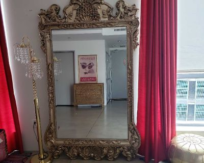 Baroque wall floor mirror
