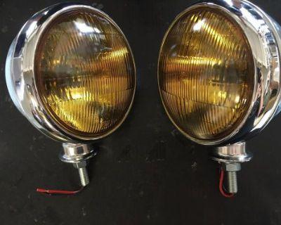 Vintage Fog Lights 6 Inch Chevrolet Cars Trucks 1930's 1940's 1950's 12 Volt