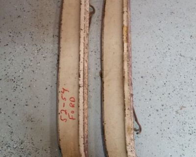 RARE 1952 53 54 FORD MERCURY FENDER SKIRTS FLATHEAD RAT ROD HOT ROD OEM