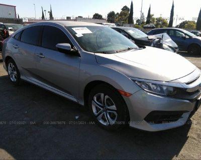 Salvage Silver 2017 Honda Civic Sedan