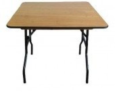 """48"""" Plywood Square Folding Table - Folding Chair Larry Hoffman"""