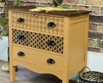 Harvest Gold Antique Dresser/commode New Custom Finish