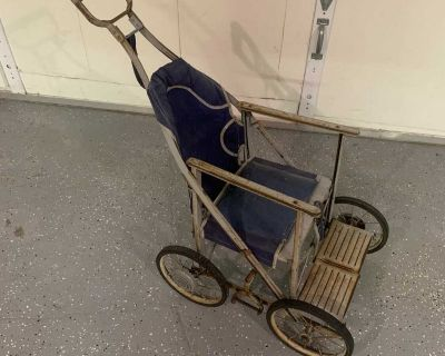 Vintage child carriage Great for plant or decoration in or out