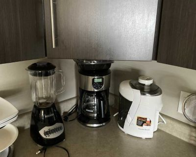 Blender , Coffee Maker and Juicer . All in very good condition.