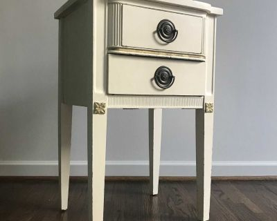 Painted Nightstand / Side Table