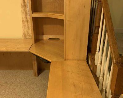 4-piece solid maple wood desk set