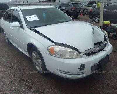Salvage White 2013 Chevrolet Impala