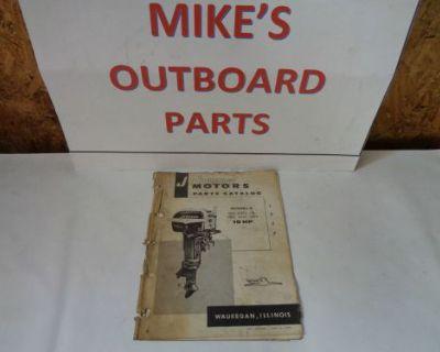 1957 Johnson Parts Catalog 10 Hp Motors @@@check This Out@@@