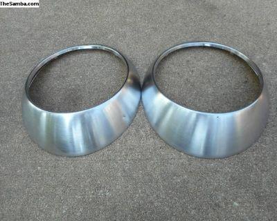 Porsche Headlight Trim Rings - Burnished
