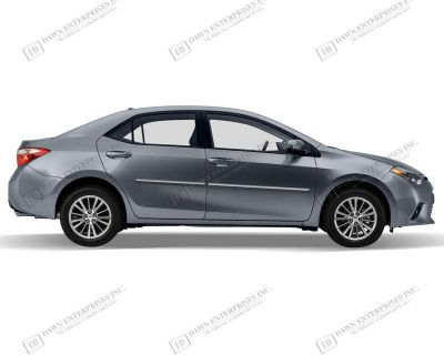 Toyota Corolla Painted Body Side Mouldings With Chrome Insert Trim 2014