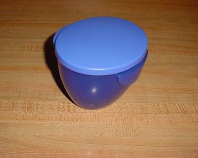 Gently Used Tupperware 16 Oz. Capacity Handing Dip Bowl With Airtight Seal. This Hooks Onto The Side Of The Bowl For Easy Access. $5