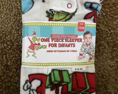 New Kids Grinch One piece sleeper for infants