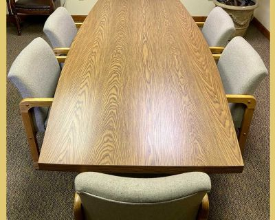 Conference Table with Upholstered Chairs