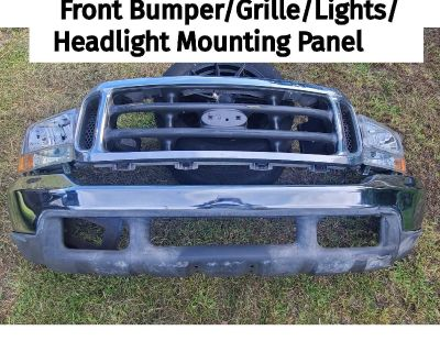 1999-2004 Ford F250 Front Bumper Headlights Grille