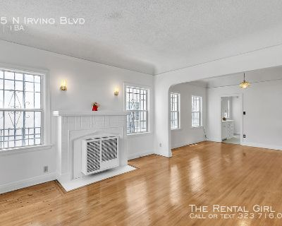 HUGE 1BR/ 1BA WITH LOADS OF VINTAGE CHARM- REFINISHED ORIGINAL HARDWOODS- WASHER/DRYER IN-UNIT - SHARED OUTDOOR SPACE - 1 BLOCK FROM PARAMOUNT!
