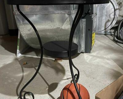 Fancy metal matte black side table