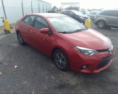Salvage Red 2016 Toyota Corolla