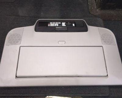 "2011 2012 2013 Honda Odyssey Drop Down 16.2"" Monitor Speakers Remote Grey"