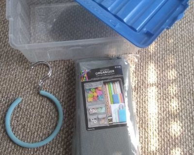 Bundle deal. New organizer for wrapping paper, sterelyte organizer and belt holder