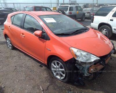 Salvage Orange 2012 Toyota Prius C