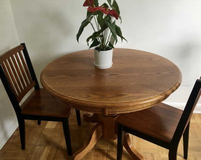 Round Dinner Table - Dining Table Set + 2 Chairs