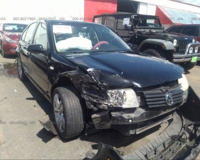 Salvage Black 2001 Volkswagen Jetta