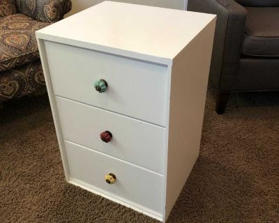 Wood side table or book drawers