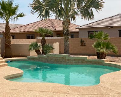 Resort Style Home with Covered Deck and Jacuzzi Pool, Maricopa, AZ