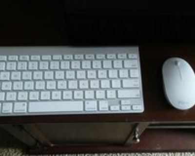 Apple Keyboard and Wireless iHome Mouse
