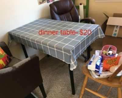 moving sell, table, heater, light