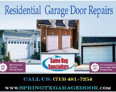 Commercial Garage Door Spring Repair   Starting $26.95   Spring, TX
