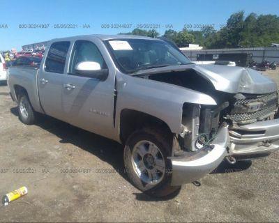 Salvage Silver 2011 Chevrolet Silverado 1500