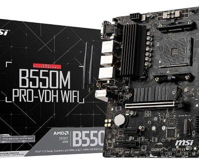 [Amazon] MSI B550M AM4 Motherboard $84