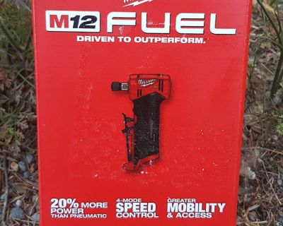 """Brand new MILWAUKEE M12 FUEL 1/4"""" RIGHT ANGLE DIE GRINDER **MAKE A REASONABLE OFFER **"""