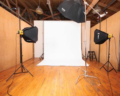 Boyle Heights Rustic Brick Walled Loft with Natural Light, Lighting Equipment included, Los Angeles, CA