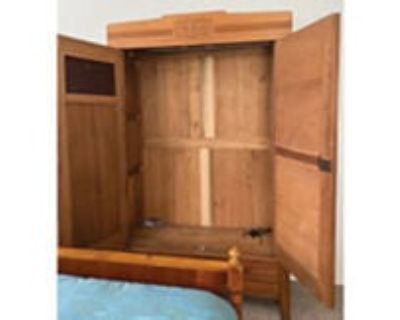 Early 1900's Antique Oak Armoire $650 OBO Call (626)975-9166 or