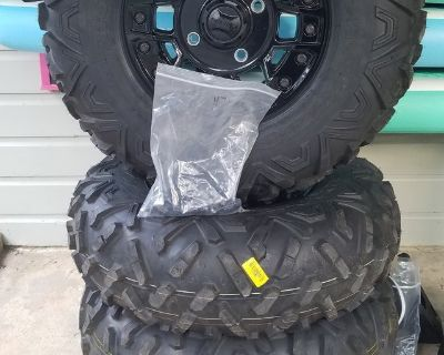 4 Brand New Can Am Maverick Tires and Wheels--Sale or Trade