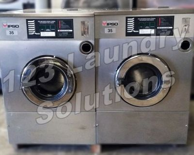Heavy Duty Ipso Stainless Steel, Front Load Washer 35lbs 1Ph 240v 60Hz Used