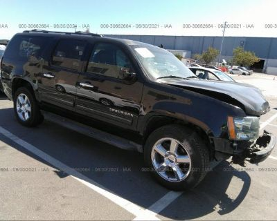 Salvage Black 2012 Chevrolet Suburban