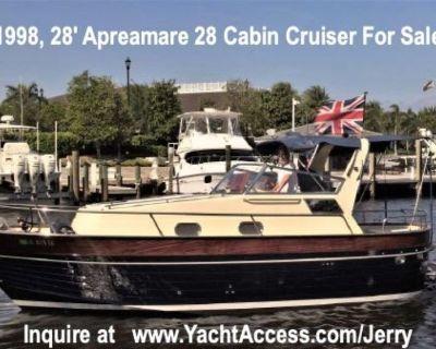 1998, 28' Apreamare 28 Cabin Cruiser For Sale
