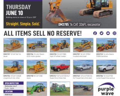 June 10 RK&R Dozer surplus equipment auction