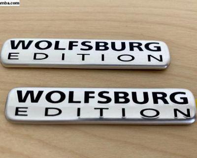 VW Jetta Wolfsburg Edition Fender Emblems MK4 OEM