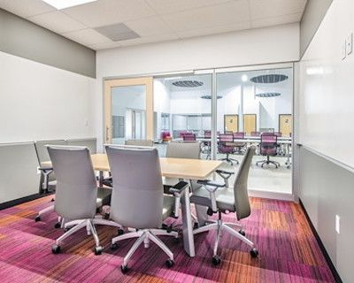 Quiet & stylish boardroom for 6 in a professional coworking atmosphere, Denver, CO